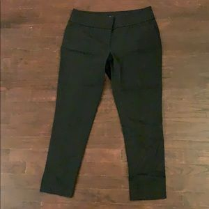 LOFT black Marissa skinny/straight slacks